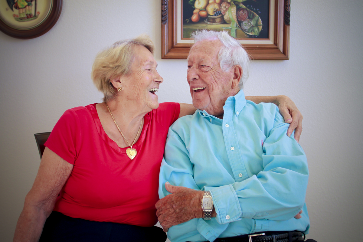 Joe (holocaust survivor)and Irene Rubinstein, loving life, God and each other for over 68 years!
