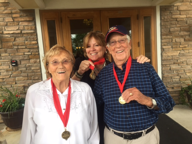 Joe and Irene Rubinstein with Author Nancy. Auschwitz #34207 - The Joe Rubinstein Story winner of 4 Gold Medals by the Florida Authors & Publishers Association (2016)
