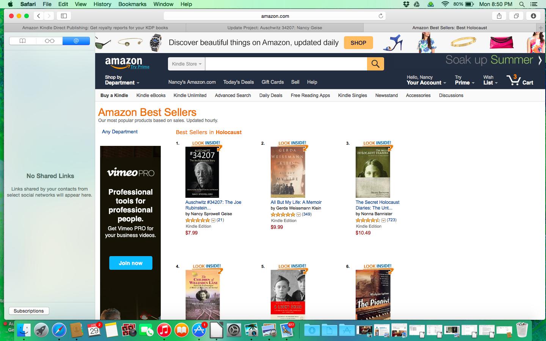 Auschwitz #34207 - The Joe Rubinstein Story   #1 Amazon  (Holocaust Biographies/Memoirs)