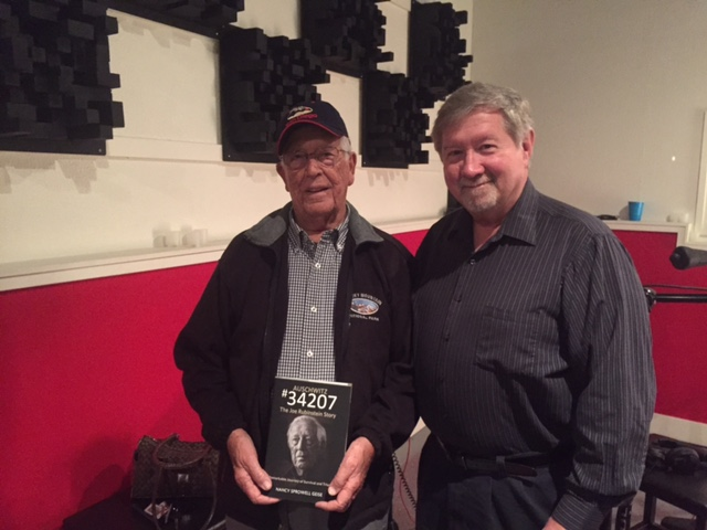 Joe Rubinstein with award winning Audio Book Narrator/Producer Richard Rieman (2015)