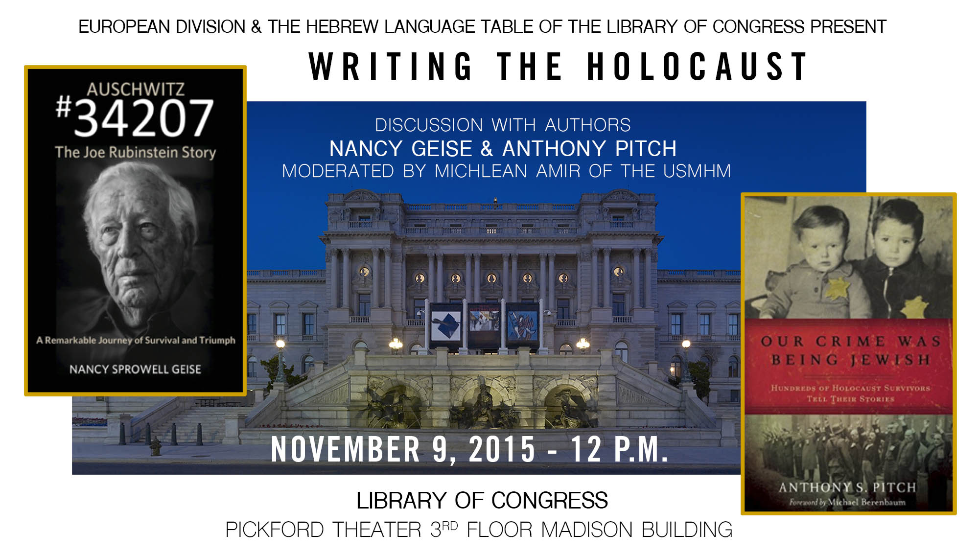So honored to share Joe's story at the U.S. Library of Congress in Washington, D.C.