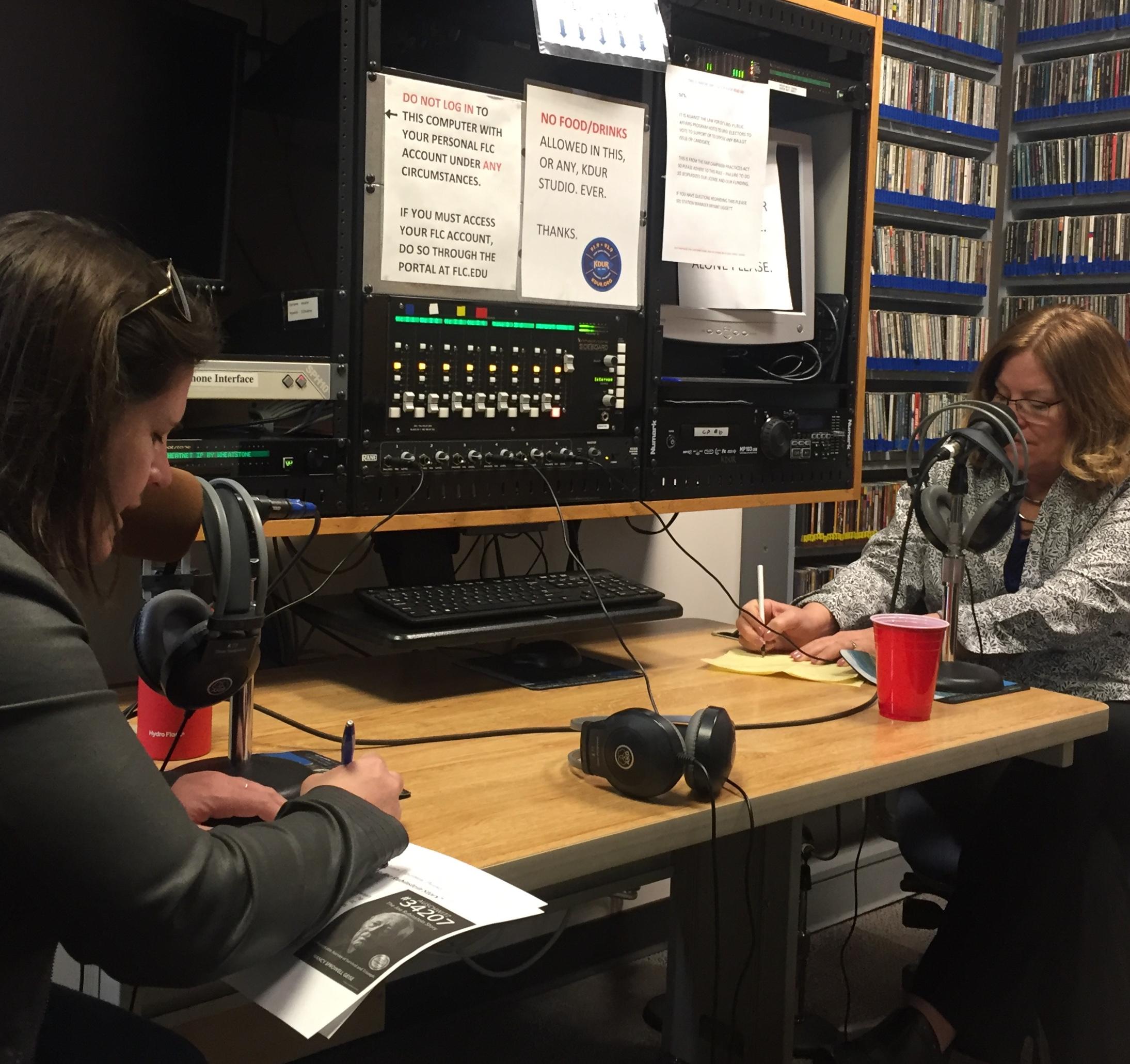 Sarah B radio show.jpg