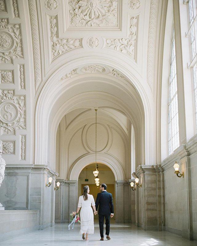 Lauren & Onn at San Francisco City Hall.