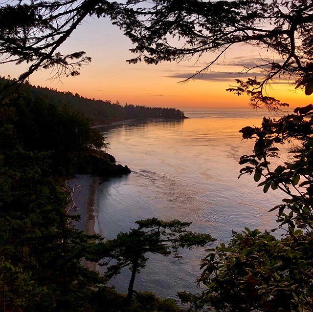 Beautiful sunset caught while on Fidalgo Island in Anacortes, Washington. • #sunset #washingtonstate #fidalgoisland #deceptionpass #ocean #bay #silhouette #beautiful #gorgeous #nature #pacificnorthwest