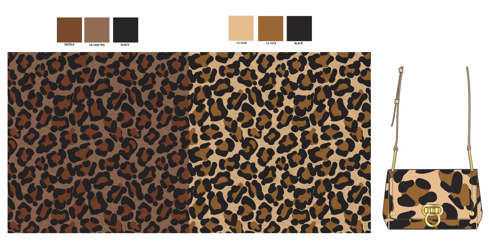 Cheetah print in two colors for Mini Crossbody Bag