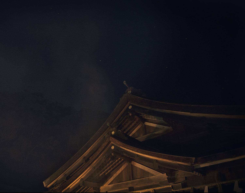 Night scene at Miho Shrine.