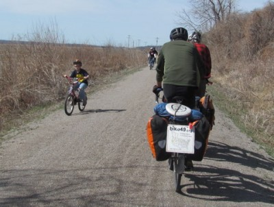 We passed many families while on the Katy Trail