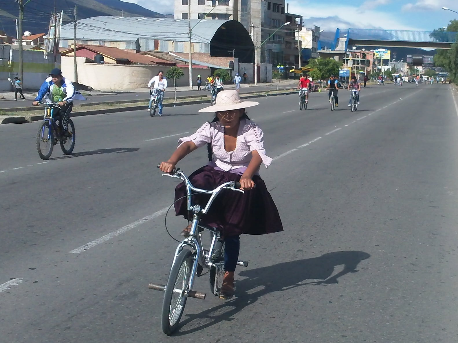 Dia del Peton allows everyone to take to the streets on bikes...all types of bikes.