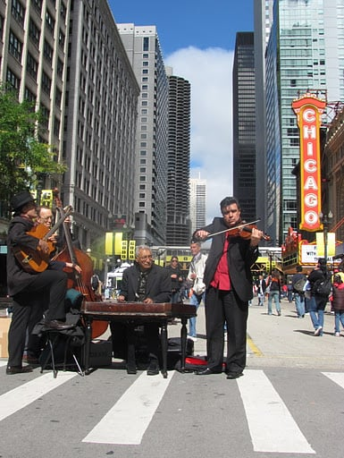 Chicago replaces the sounds of horns with strings.