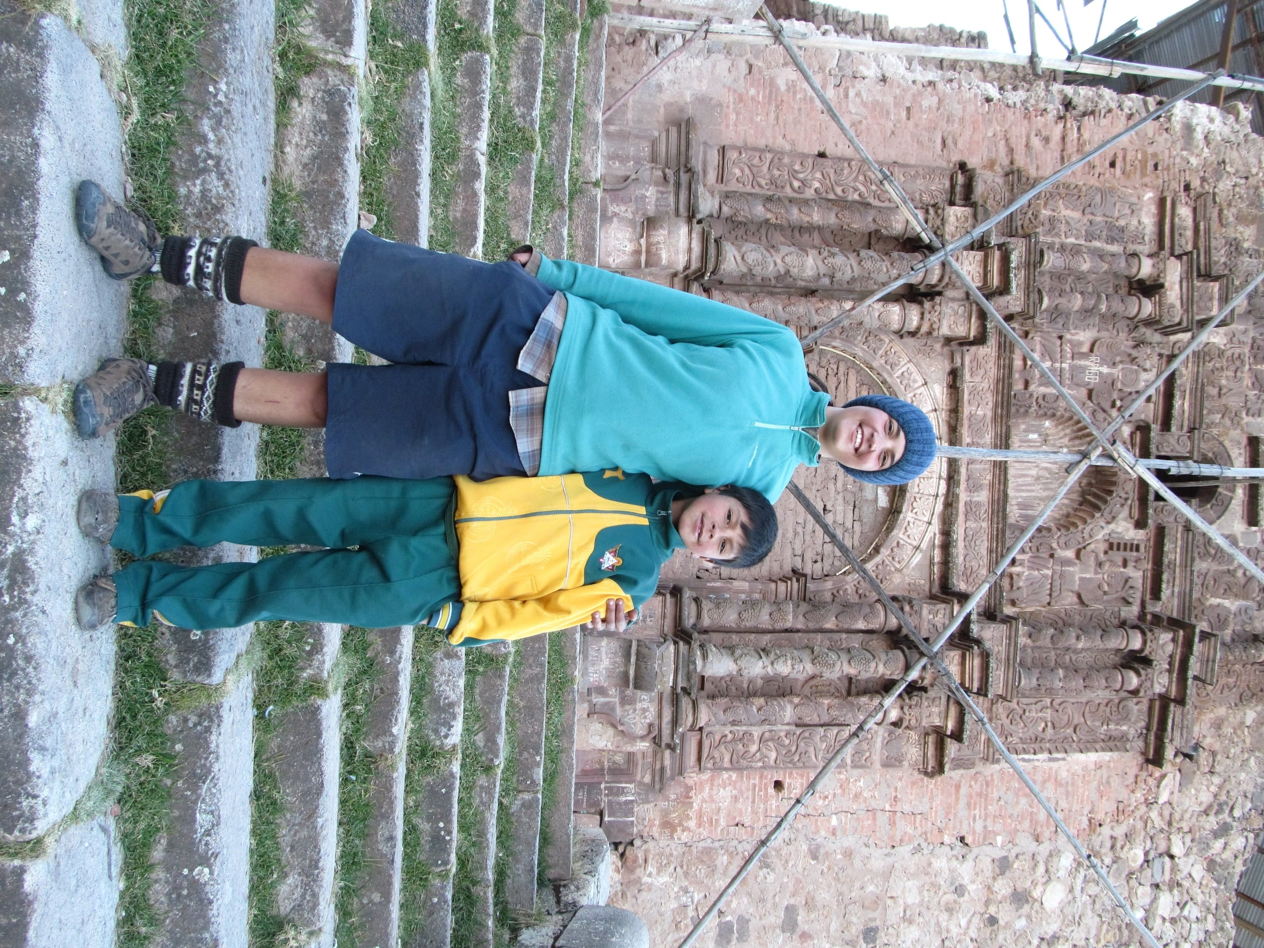 Nia and Oriel at the fourth church. A bit of a fixer-upper compared to the other three.