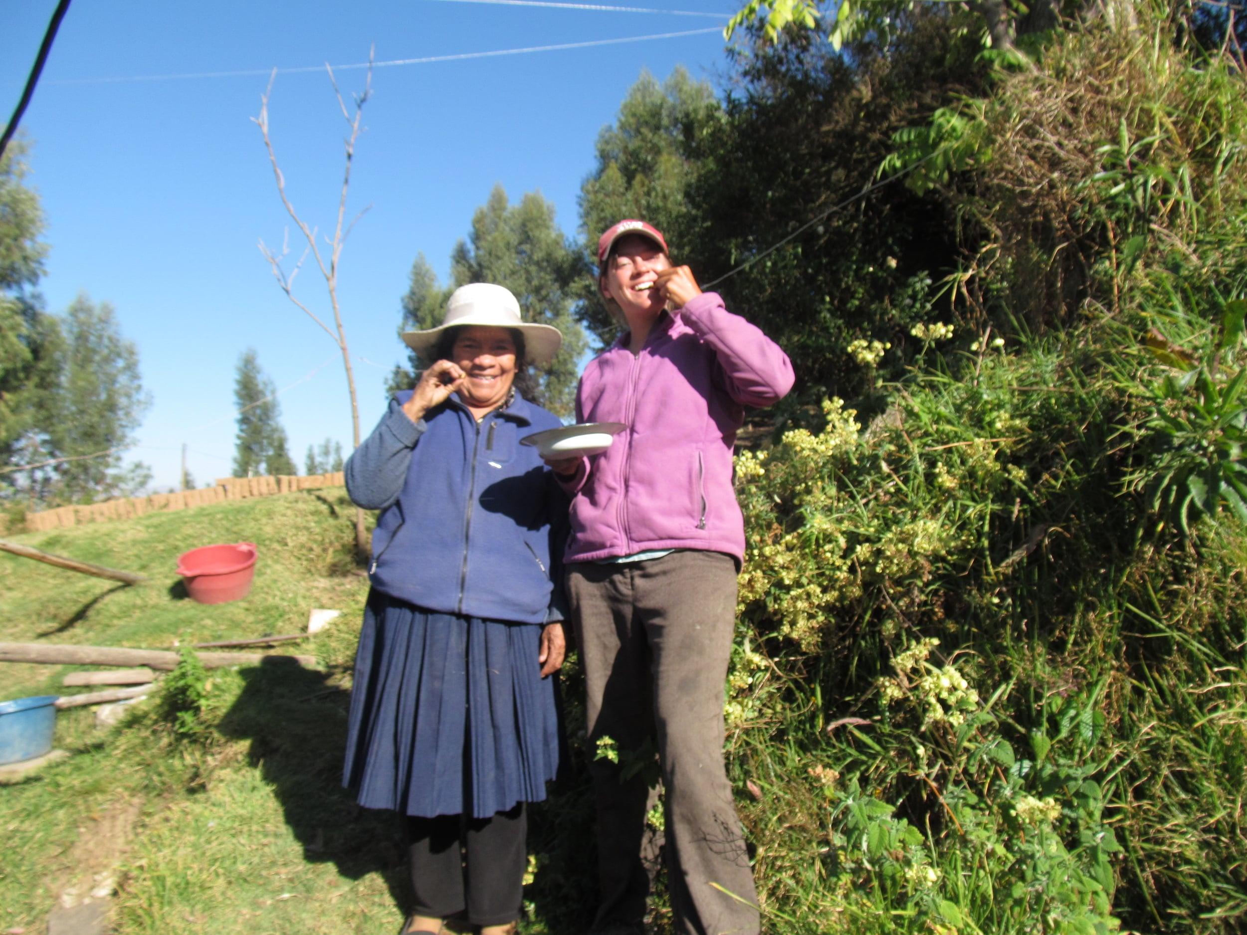 Margarita and I enjoying cancha. We have more photos of us enjoying cancha but I think you get the point.