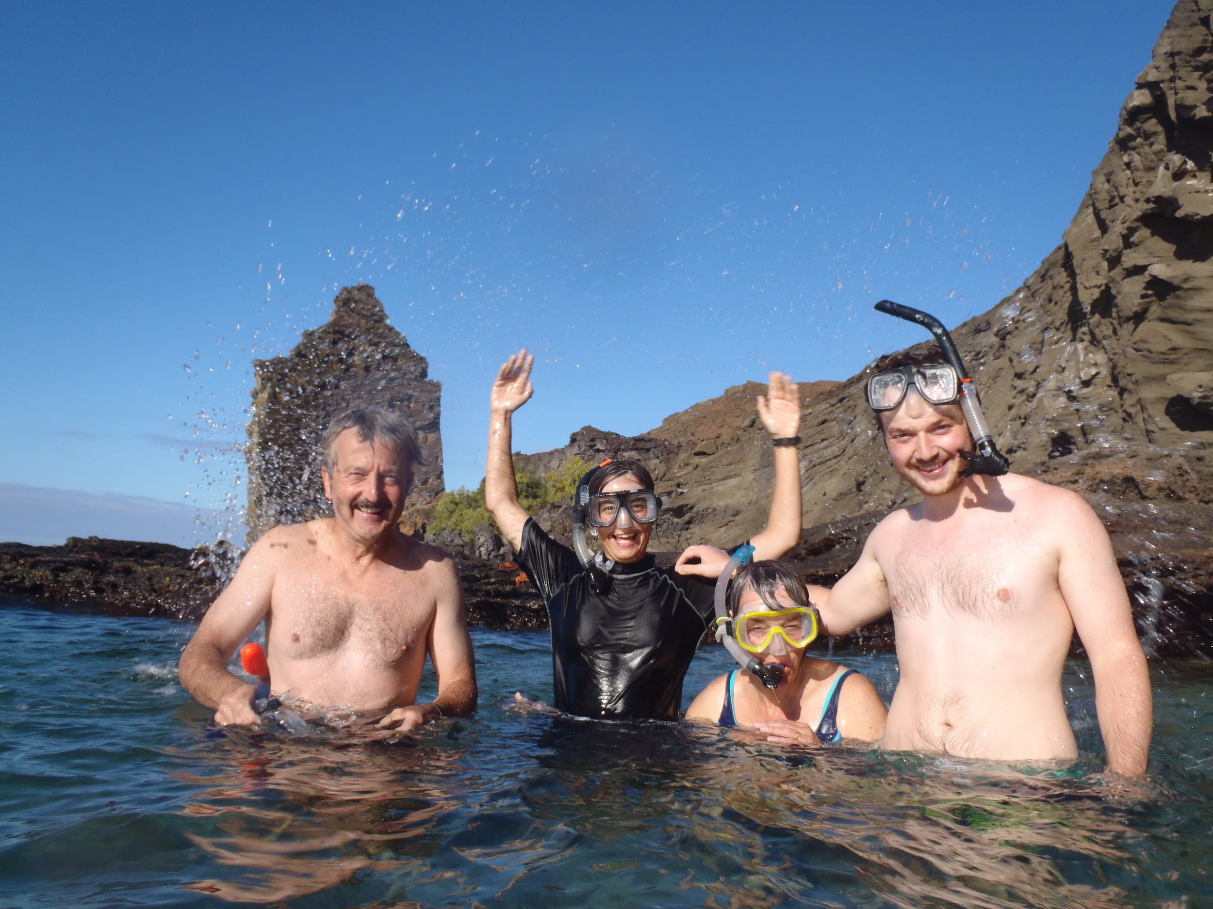Rog, Nia, Jan and Rhod - a few days into the trip.