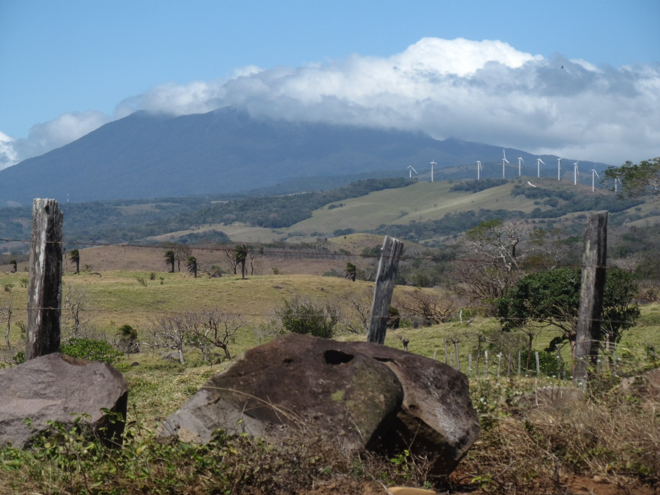 It was so windy as we climbed the mountains that windmills were a common sight.