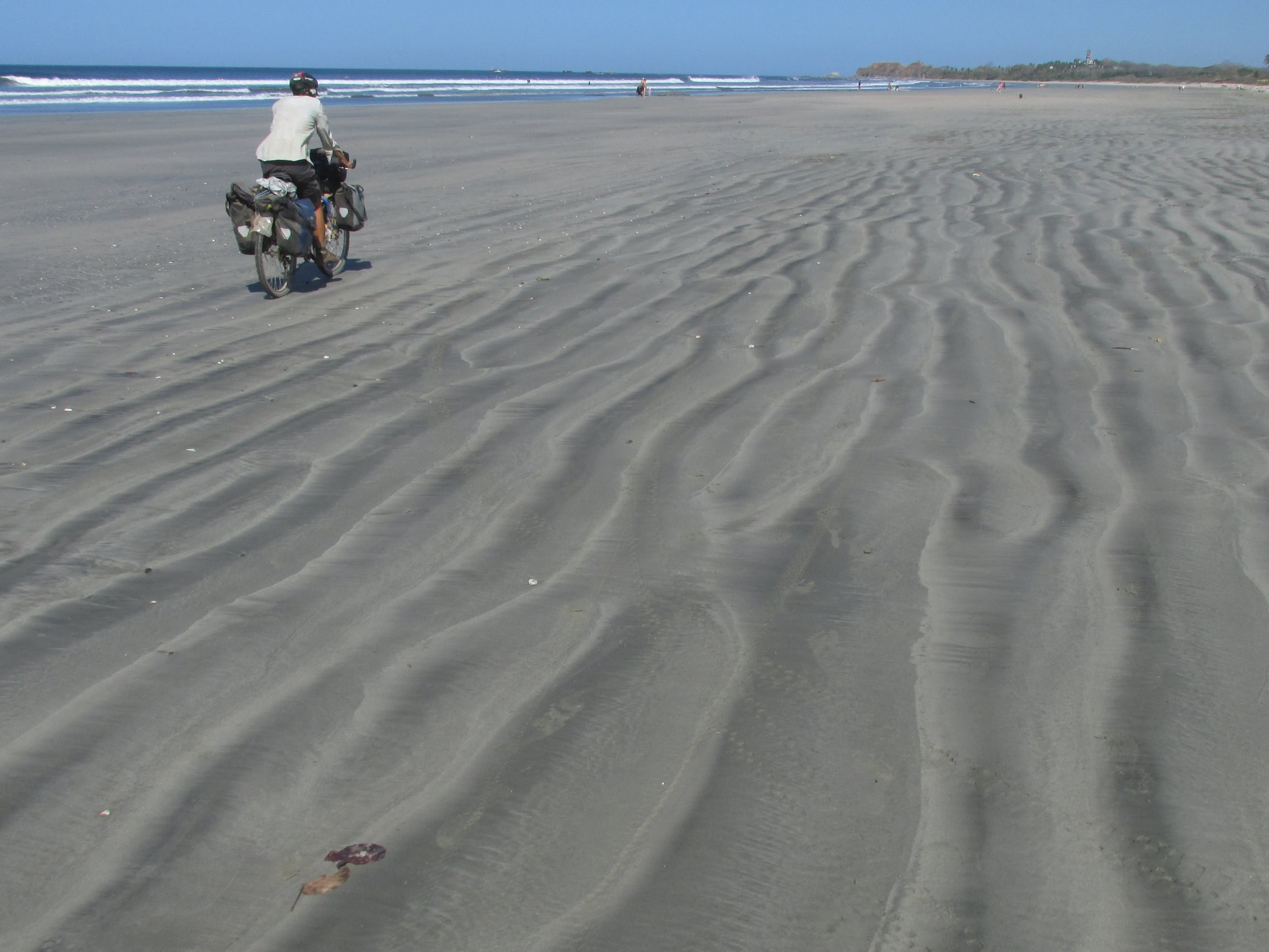 We skipped some dusty, bumpy road for a few miles on the beach. Some of my favorite miles in Costa Rica.