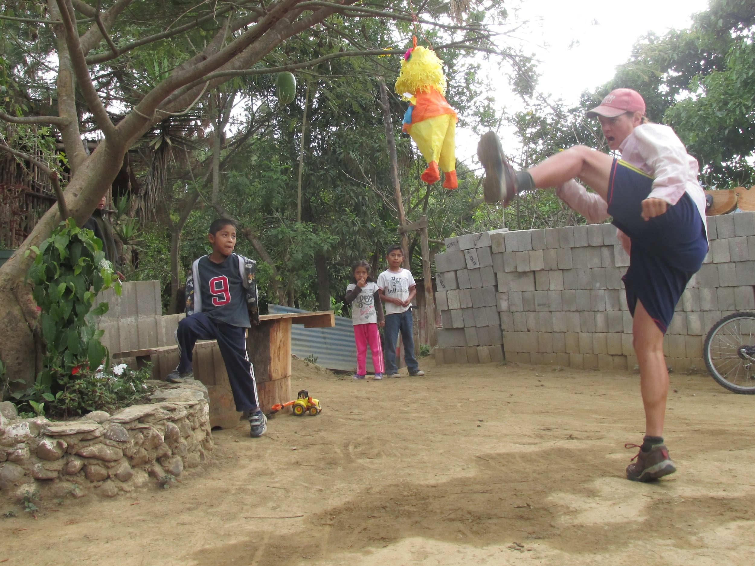 Pinatas are traditionally filled with candy and broken with a stick so the candy falls out. I first try fighting the pinata with an innovative martial arts approach.