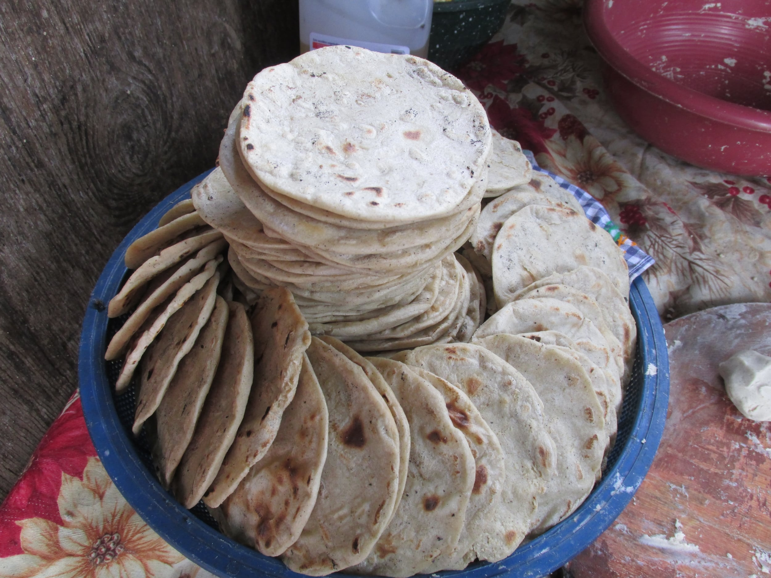 This is just the start of the giant bowl of tortillas they make every other day.