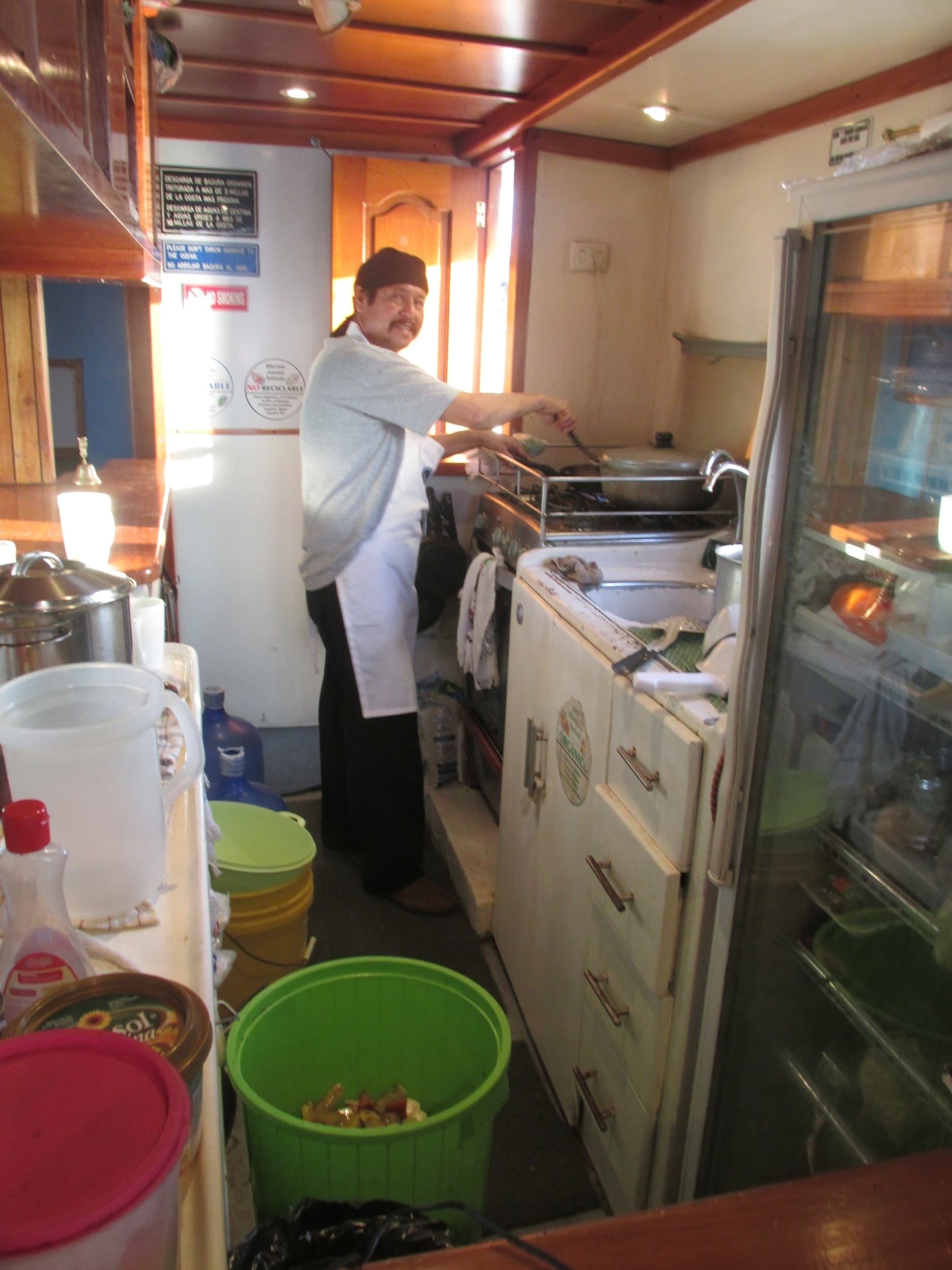 Victor, our trusty cheif, was able to cook for 17 in a rather small kitchen.