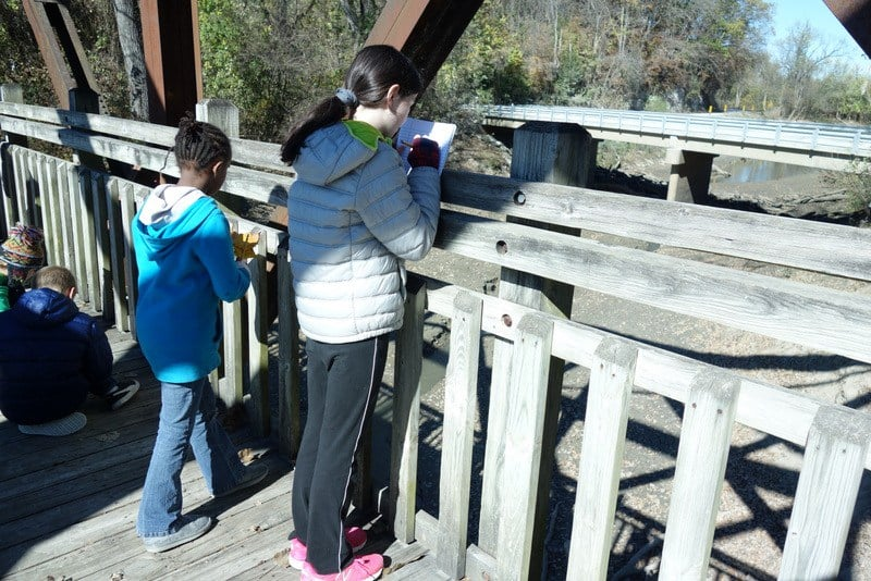 A local Columbia school got to meet us at the river, walk the Katy Trail, meet a snake, and make lots of observations. We had a blast!