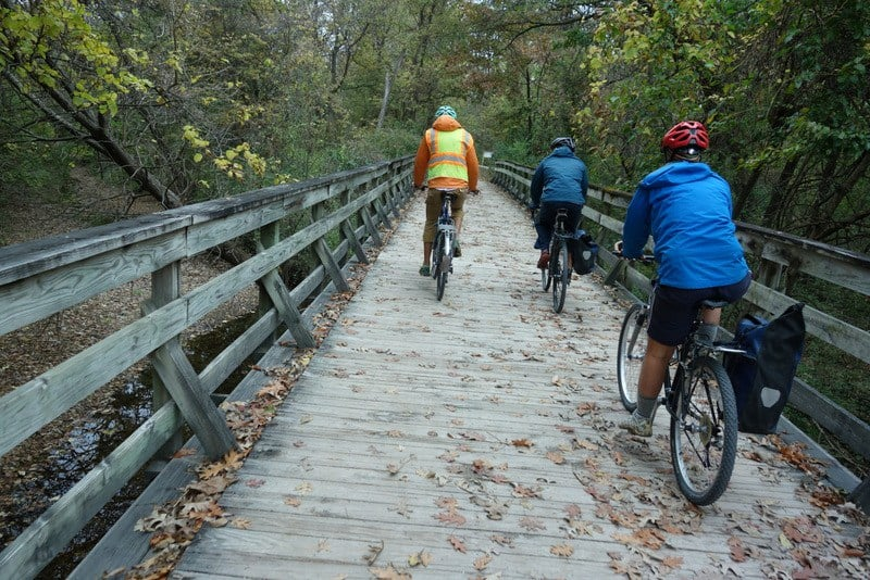 The 16 mile trip from Cooper's Landing to Columbia was almost entirely on bike trails.