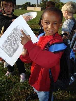 First graders use On The River as a platform to learn about and practice using maps.