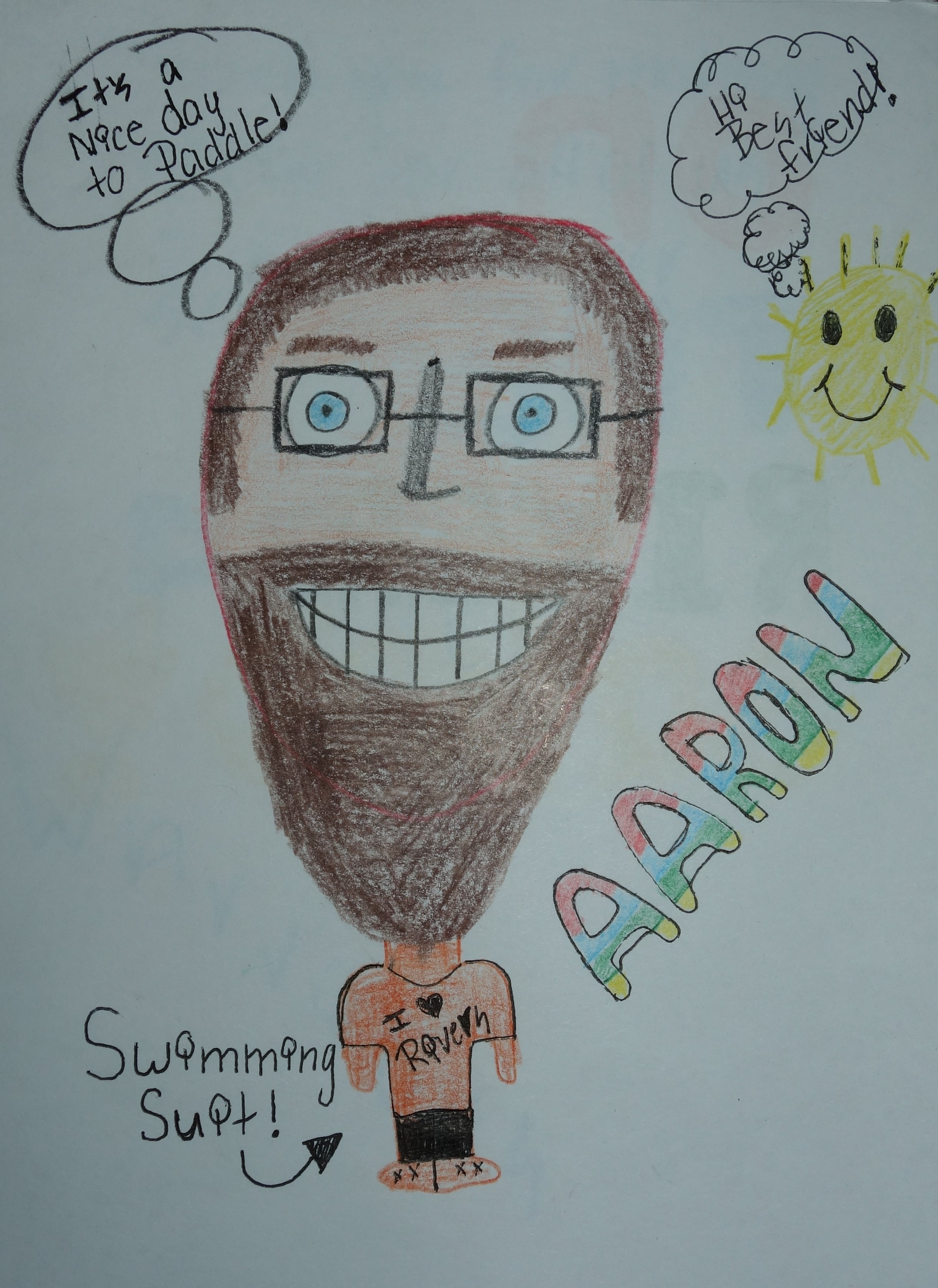 Students in South Dakota sent us letters and drawings to cheer us on and stay in touch.