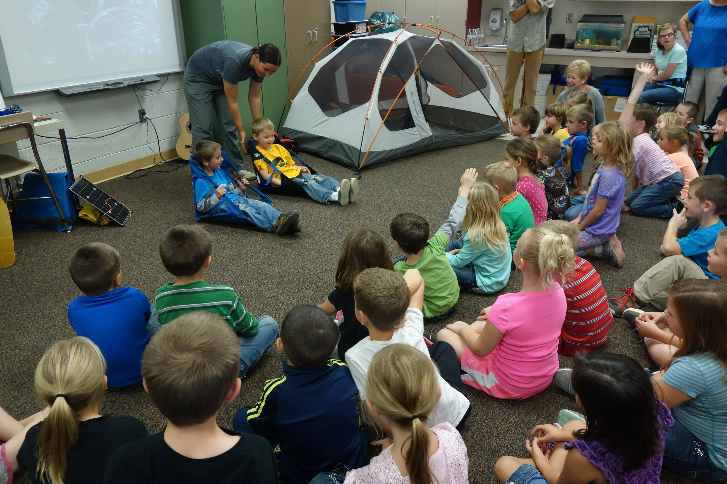 For kids that might not have access to camping gear, this is a great way to let them try it out and help them to begin to imagine ALL the possibilities.