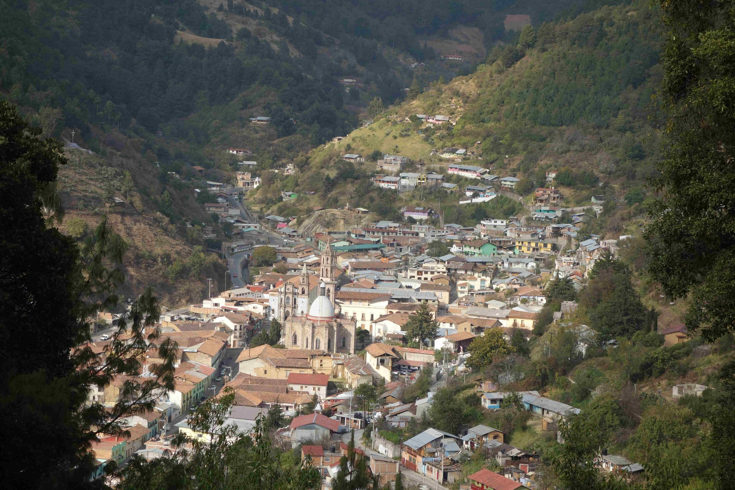 Angangueo is the jumping off point to two of the sanctuaries and it is one beautiful town.