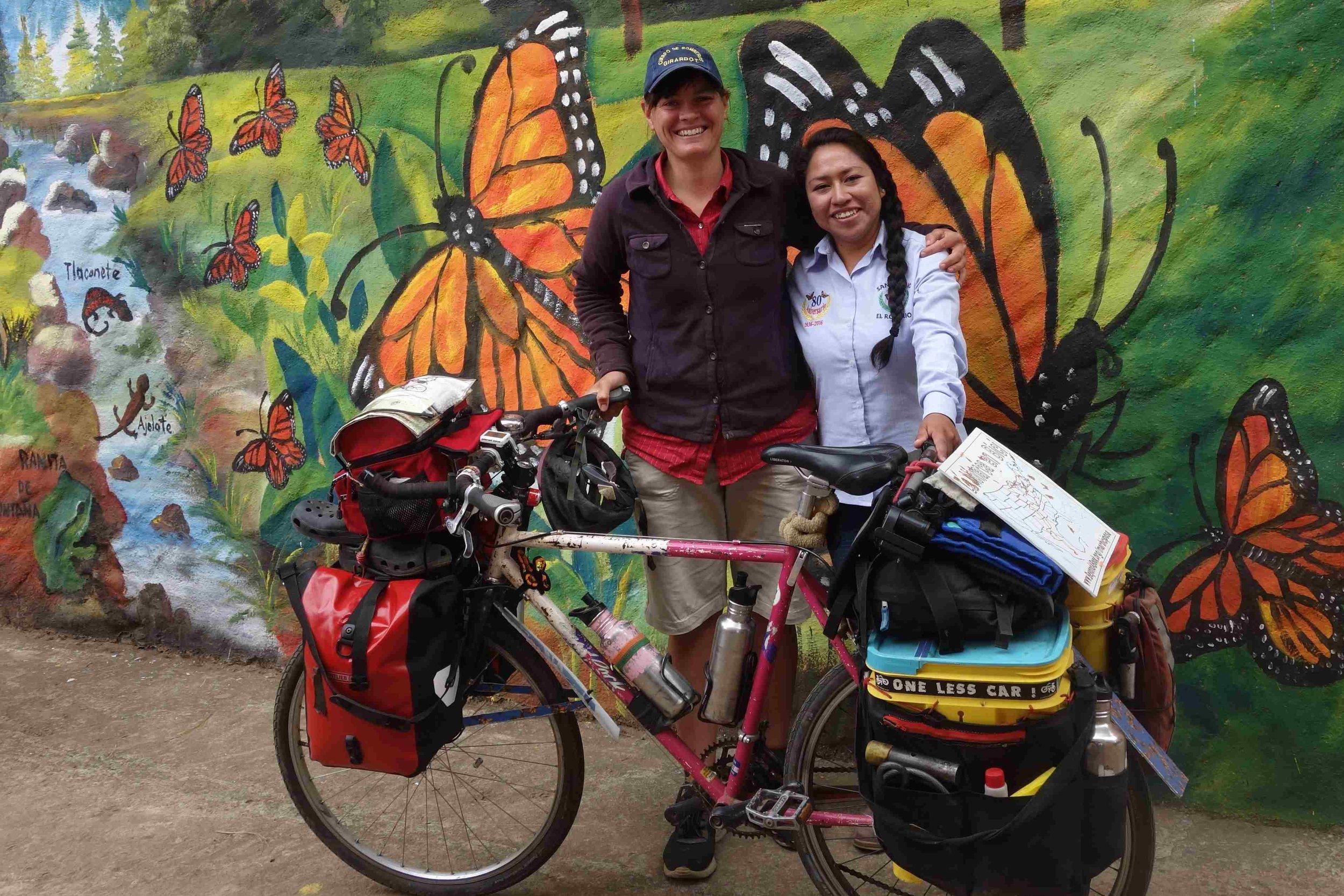 Brianda and I met at El Rosario, the most popular of all the monarch sanctuaries.