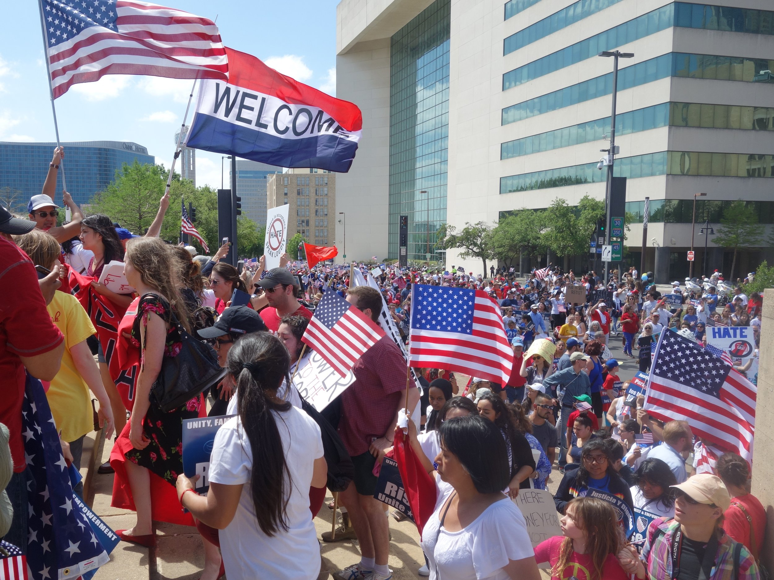 I was proud to speak Spanish and welcome diversity to my country.