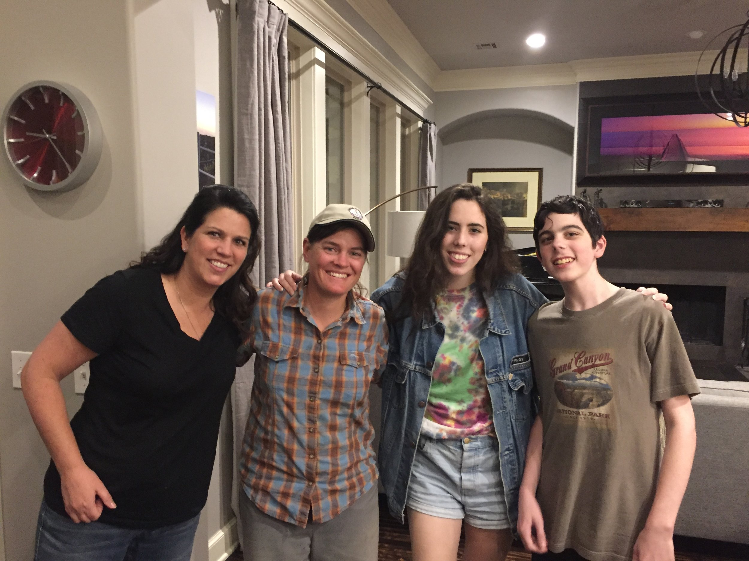 """Amy, Hannah (my """"sister"""") and Drew. What great hosts!"""