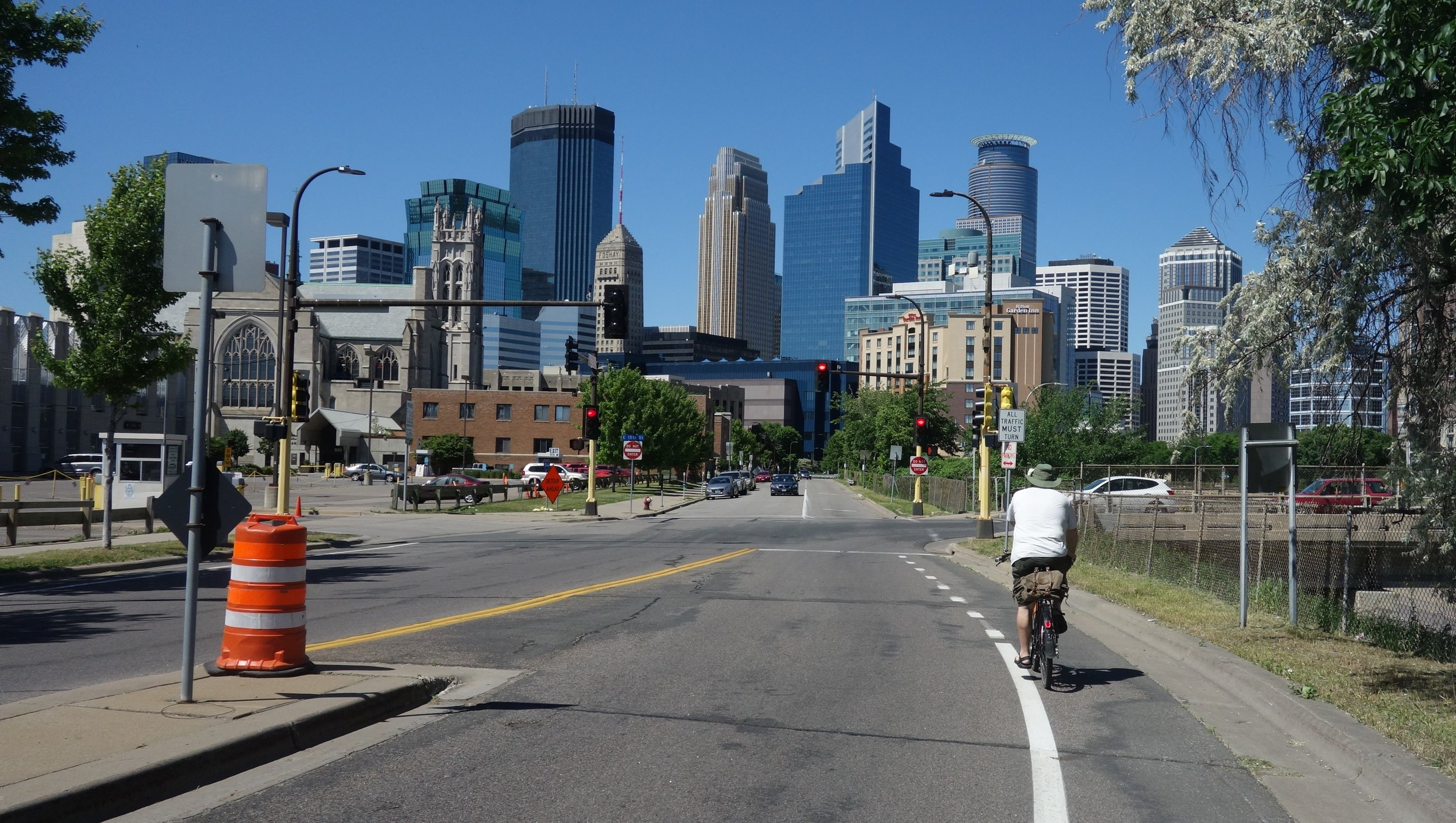 Chris leads me through the Cities, letting me enjoy the bike routes without stress.