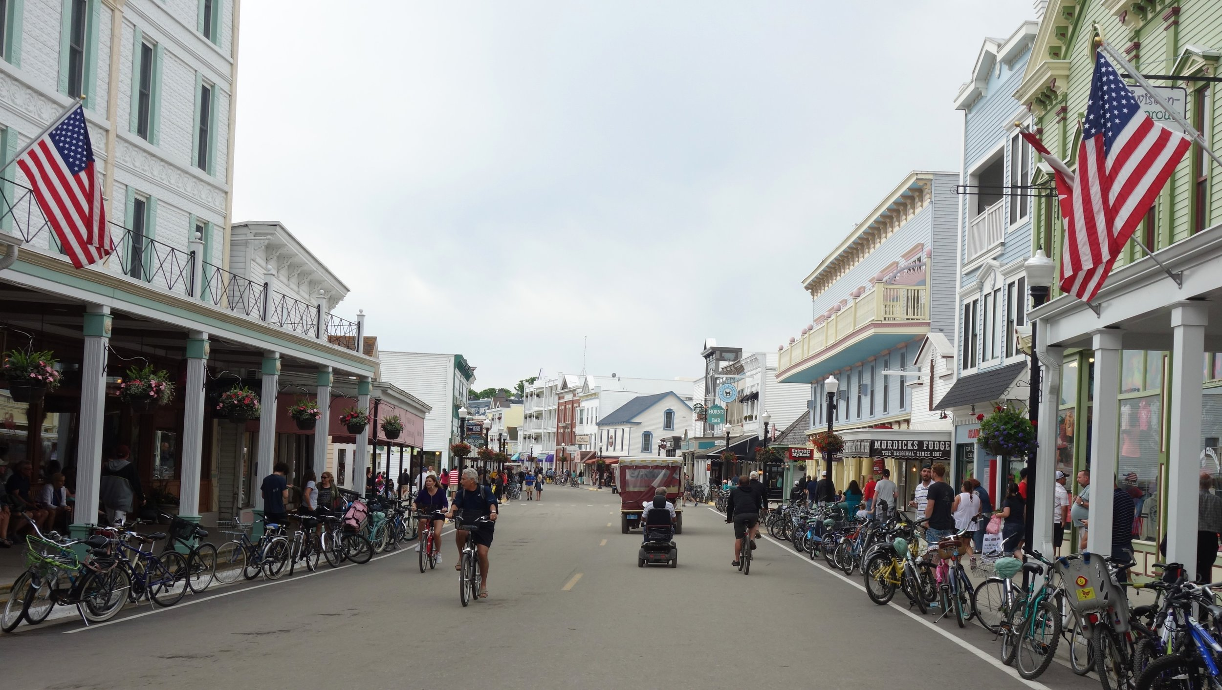 Mackinac Island seemed smaller than my first visit, but I was still impressed by all the bikes.