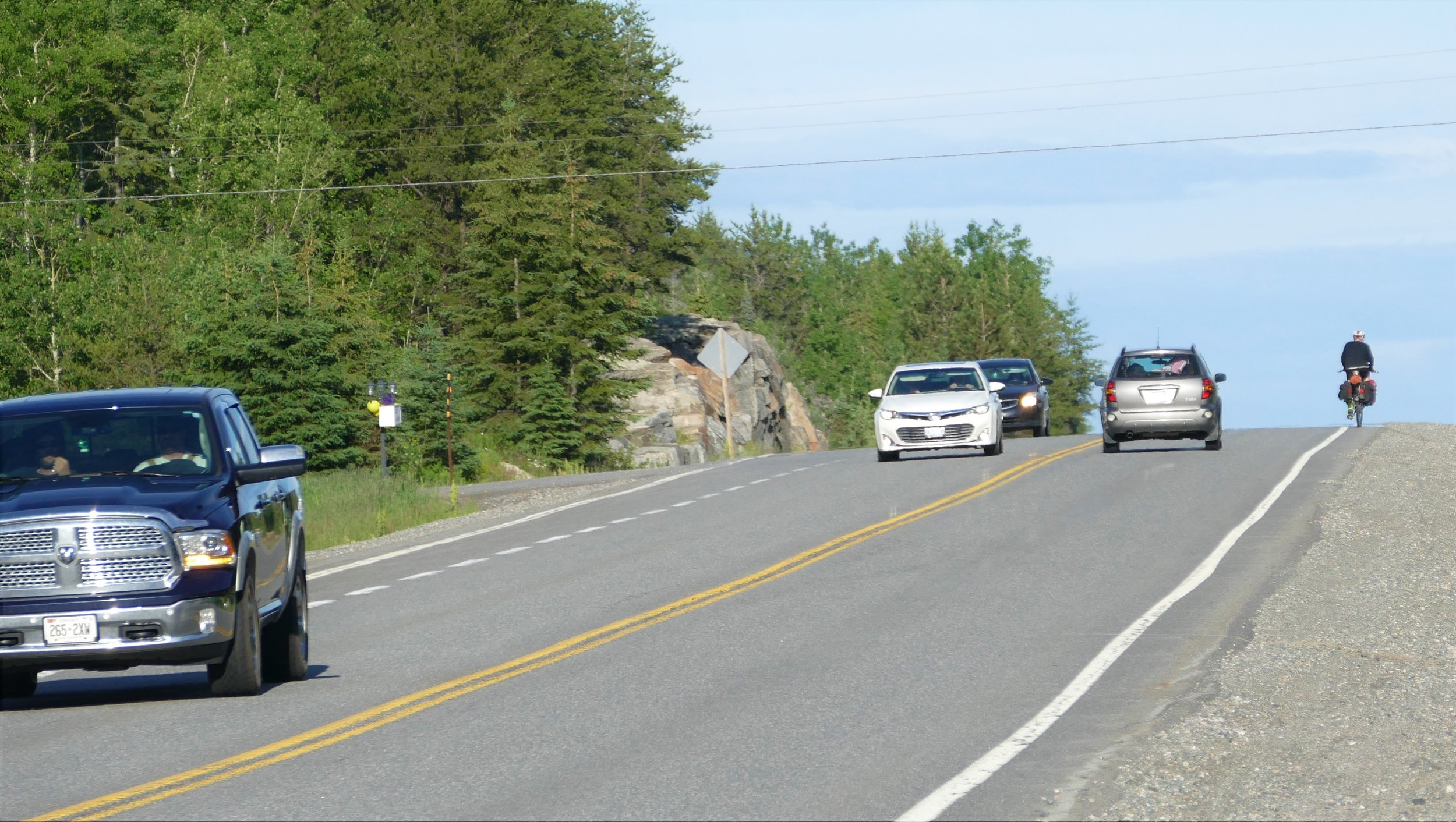 The TransCanada highway was full, kinda scary but full of bike tourists.