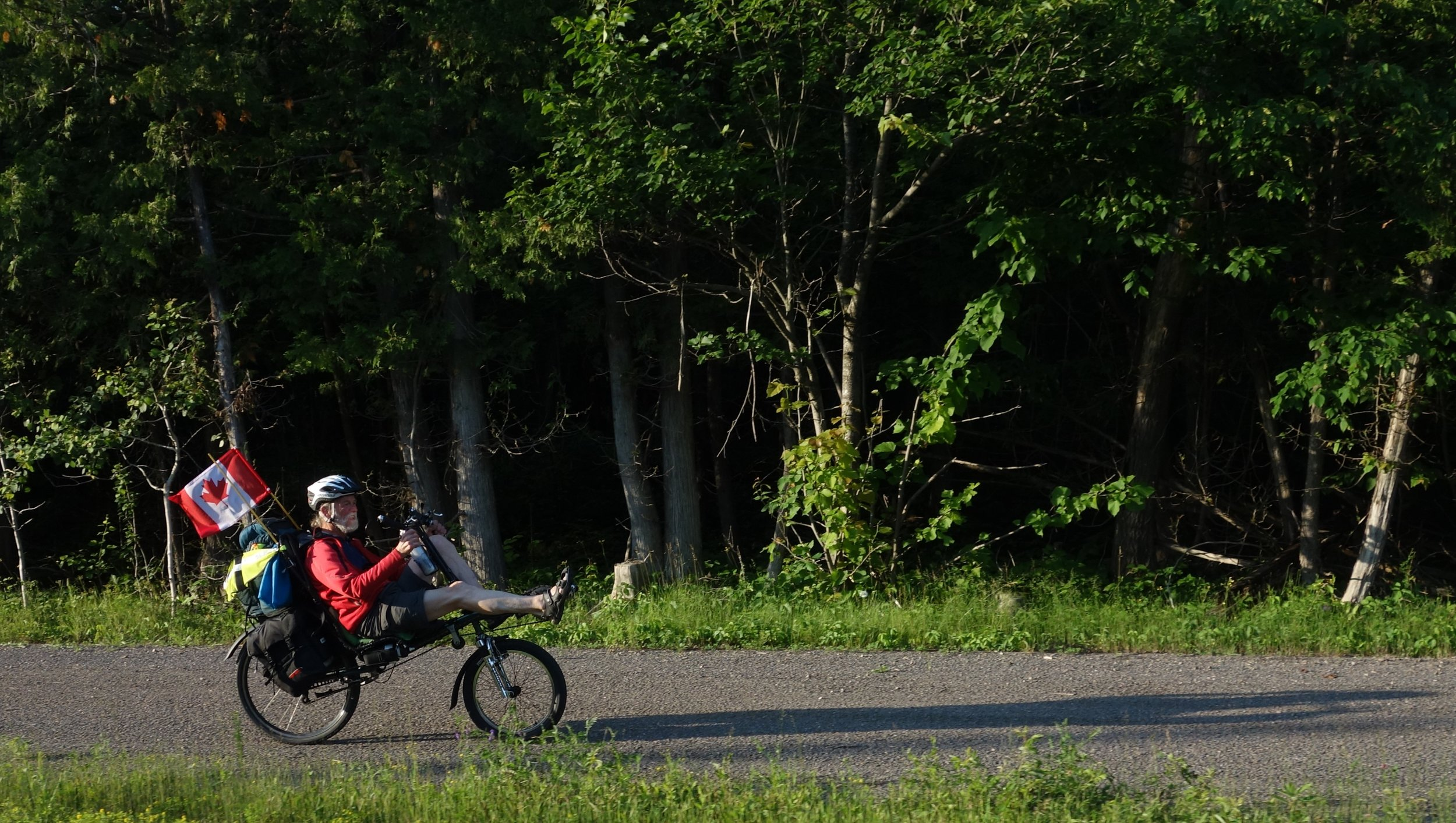A doctor and a preacher, this cyclist and I met as the sun was setting and found a great camping spot for the night.