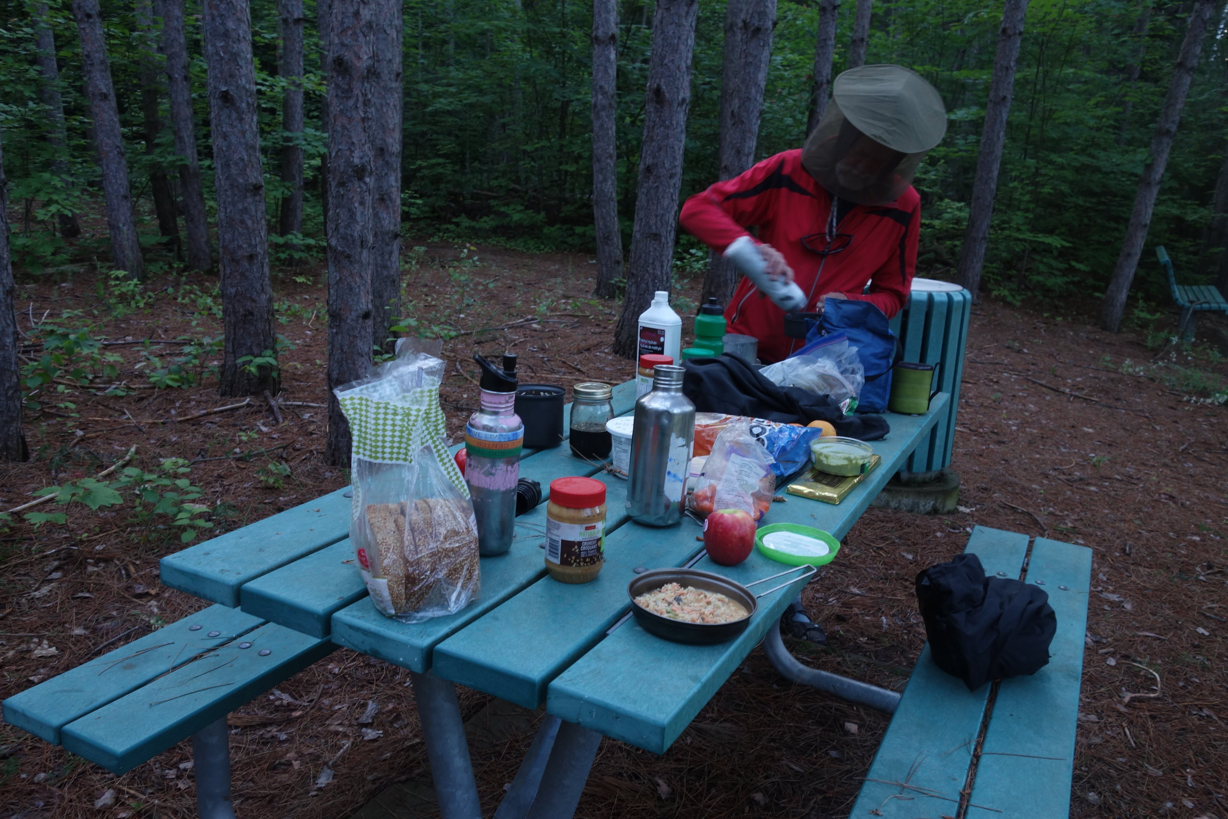 My first night camping with company, it was a fun reminder of the advantages of traveling in a group.