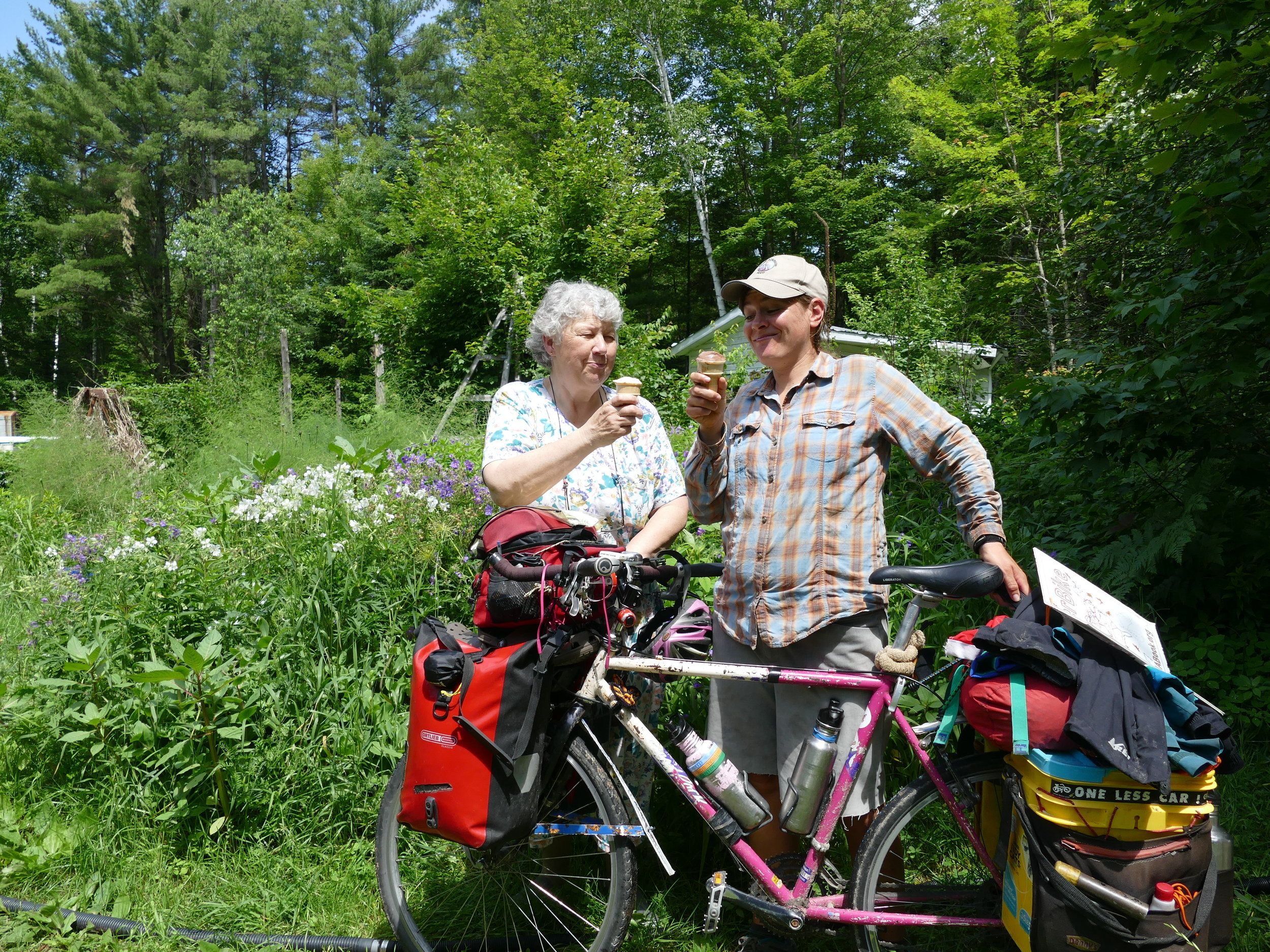 Margaret, a dairy farmer, provided food for me AND for monarchs. Her homemade ice cream was beyond perfect.