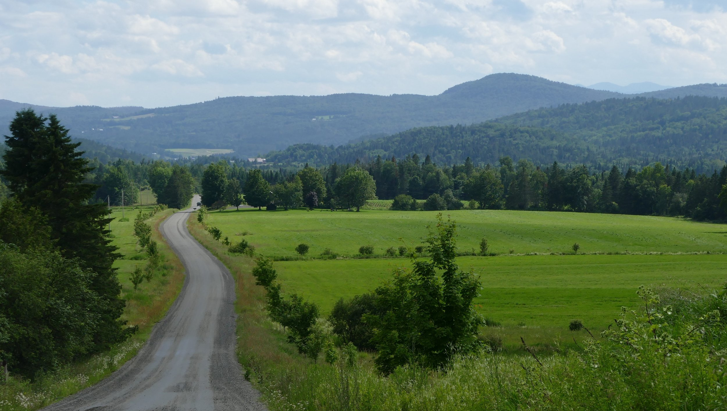 Vermont's back roads were scenic and steep. I didn't take pictures of the steep roads because I was busy biking up them!