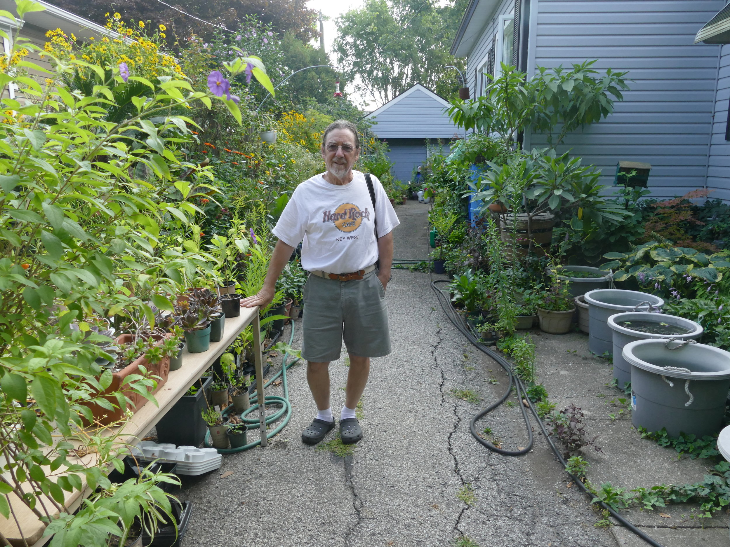 Louie is a great example of what our yards could look like. Even his driveway was habitat for so many critters, including frogs!!!