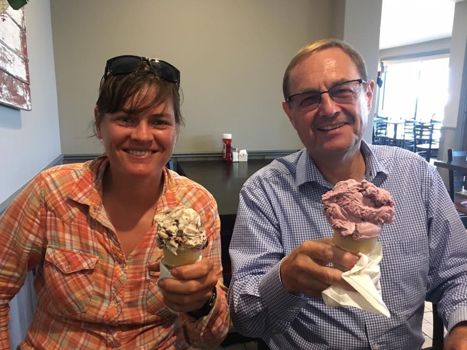 Ice cream with Don.