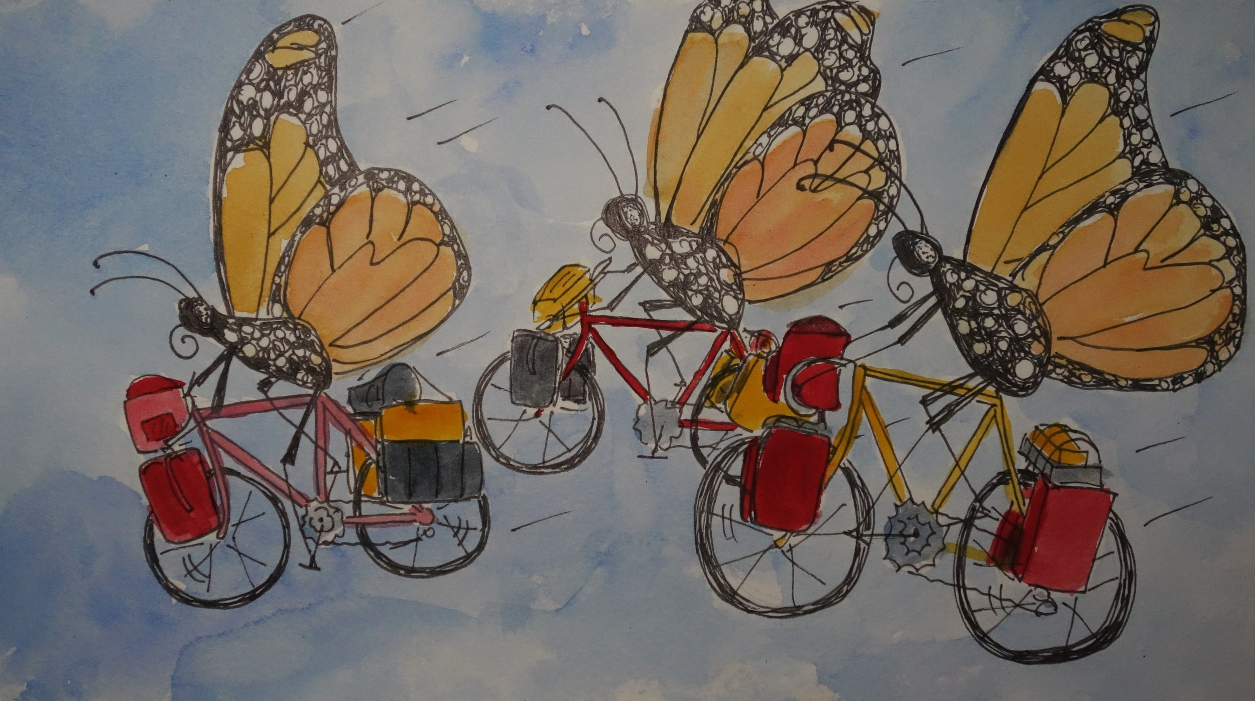 A. I biked 10,201 miles with the migrating monarchs. My goal was to be a voice for the monarchs and see the world they see.