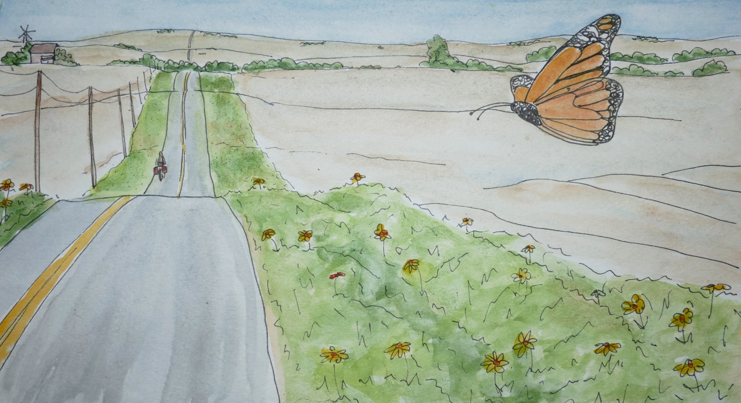 Q. I didn't paint the ugliest, but rather painted my hope. Farmers giving roadside habit to pollinators, and protecting the wild from pesticides, herbicides, and entitlement.