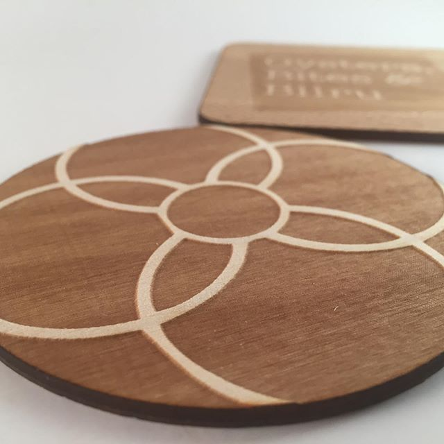 Can't stop staring at the pattern on these laser engraved wood coasters.