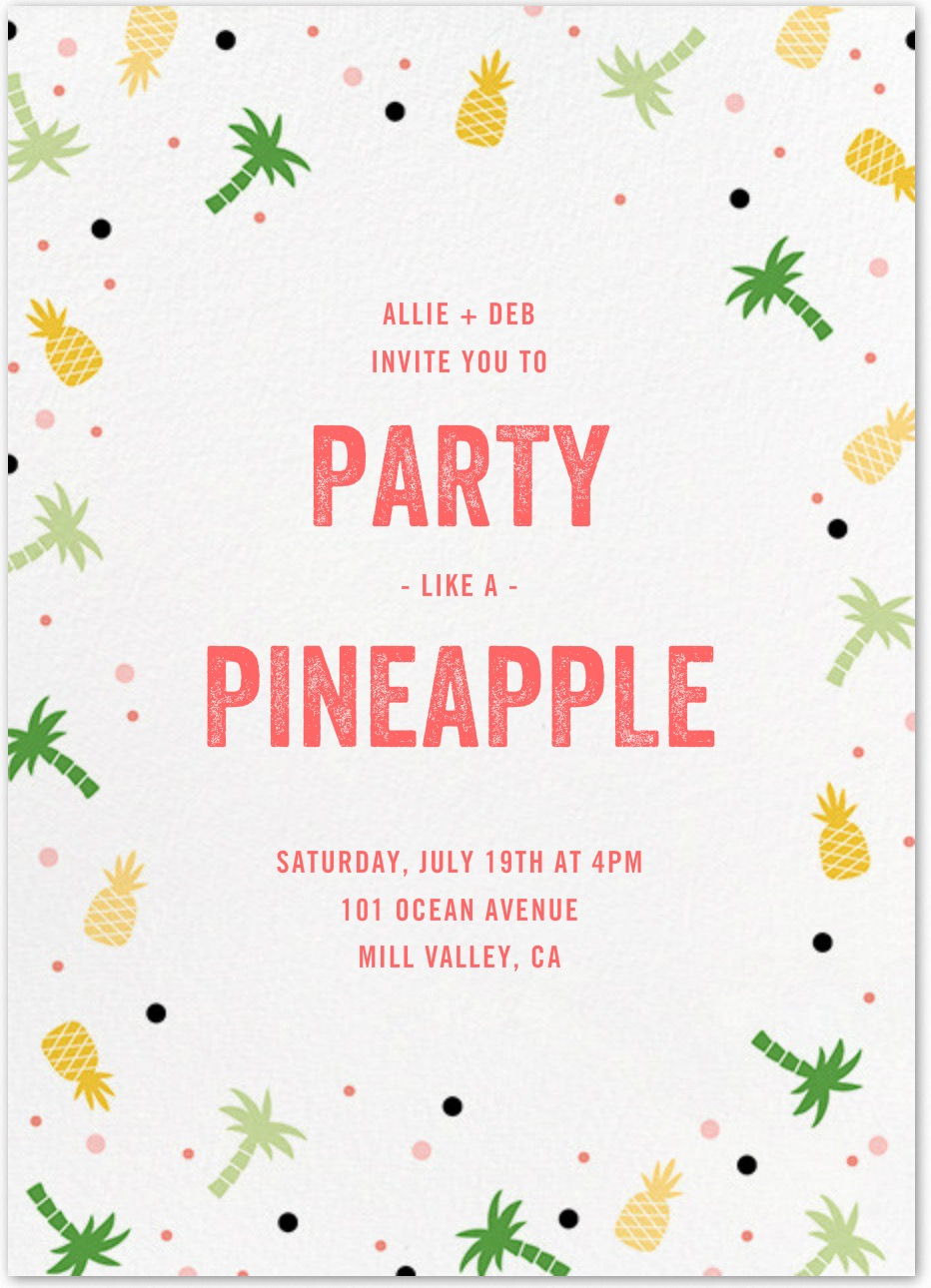 Get Lei'd at a Luau evite from Paperless Post | Table + Dine