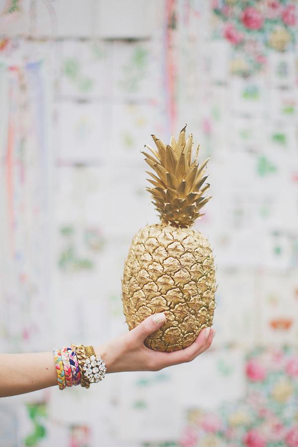 Spray Painted Pineapple