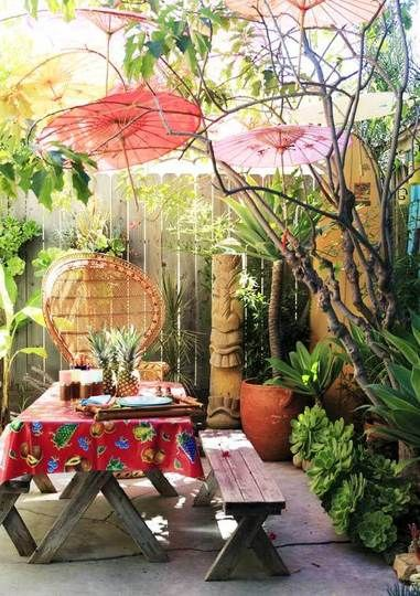 Paper Parasols add tiki-inspired color for your next Luau