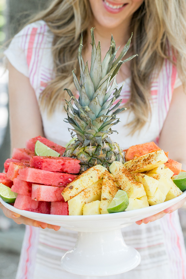 Mexican Style Fruit Plate that can also be made with a Hawaiian flare.