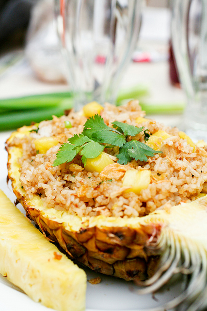 Pineapple Fried Rice | Luau Recipes