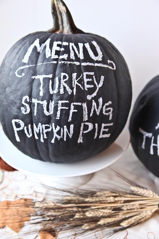 Chalkboard Pumpkin Menus for Halloween