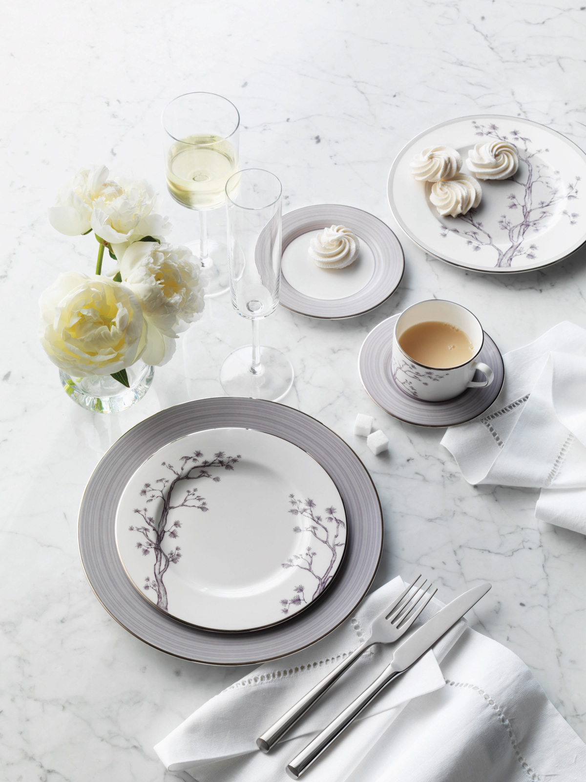 Set the table with Willow China by Brian Gluckstein