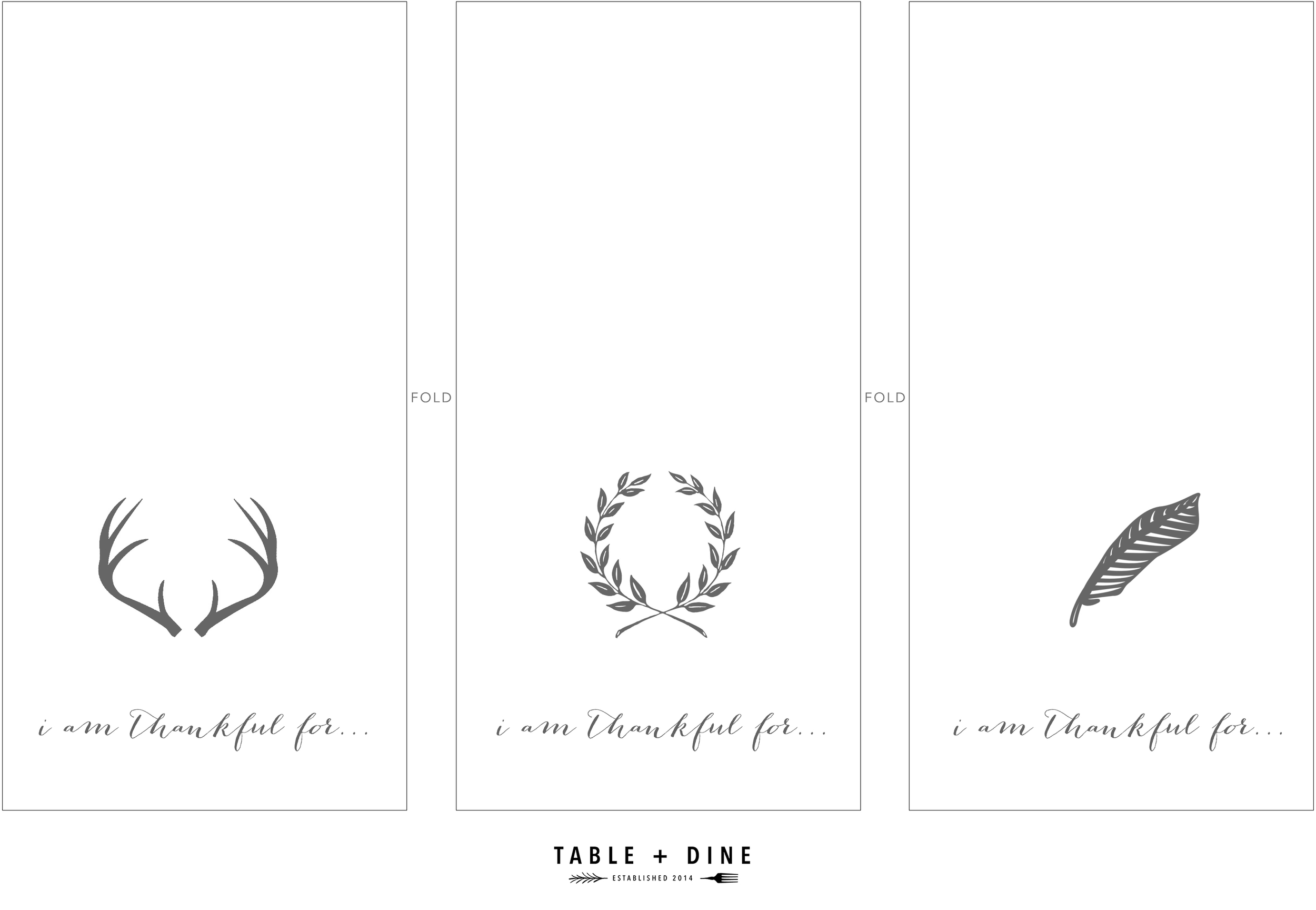 Thanksgiving Gratitude Cards by Table + Dine